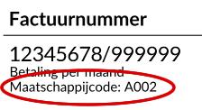 factuur_maatschappijcode